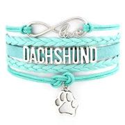 Pastel Dachshund Bracelet/Blue