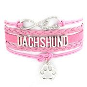 Pastel Dachshund Bracelet/Pink